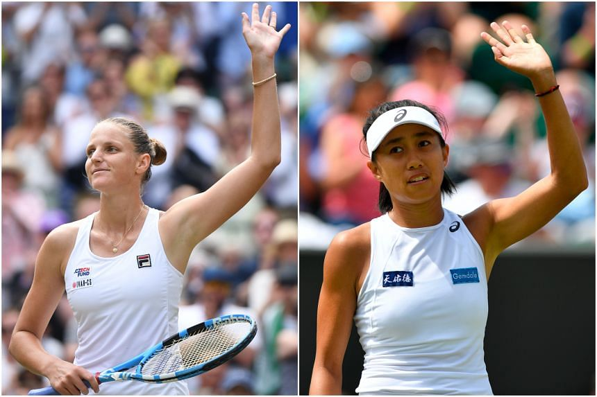 Czech Republic's Karolina Pliskova (left) and China's Zhang Shuai won their matches at the Wimbledon and will make it into the fourth round of the competition.