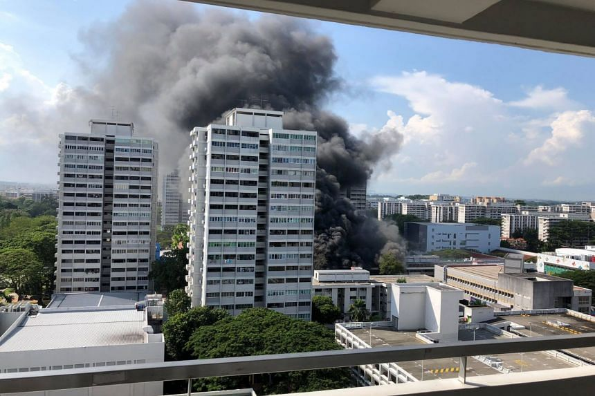 The Singapore Civil Defence Force said the fire broke out at Block 720 Ang Mo Kio Avenue 6.