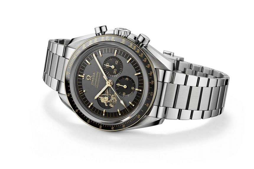 Released earlier this month, Omega's Speedmaster Apollo 11 50th Anniversary Limited Edition features a laserengraved image of Buzz Aldrin stepping down onto the lunar surface in 1969.
