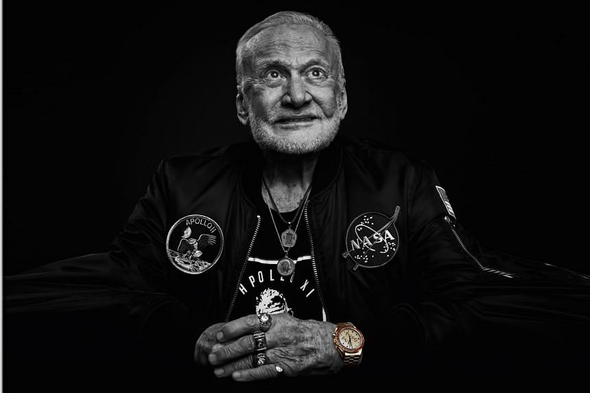 Mr James H. Ragan, a former Nasa project engineer and programme manager, was responsible for procuring the Omega Speedmaster for space use. Buzz Aldrin (above), who walked on the moon in 1969, with an Omega Speedmaster Apollo 11 50th Anniversary Limi