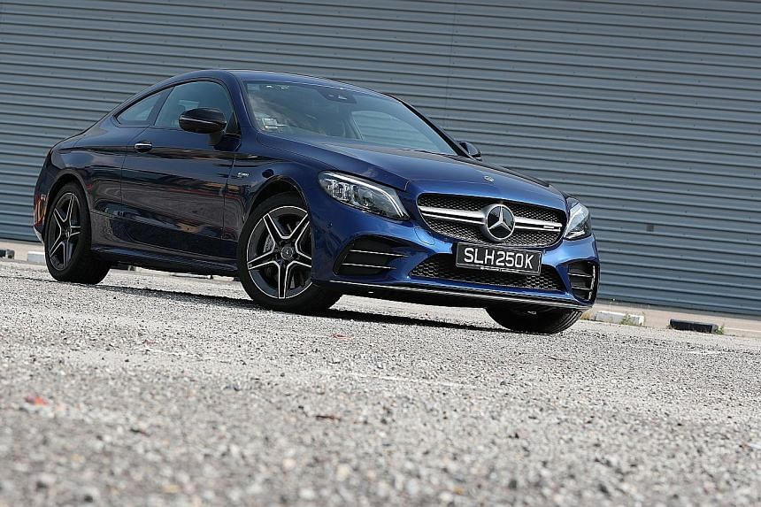 The Mercedes-AMG C43 Coupe is best appreciated on open roads, but still fairly enjoyable as a daily commute here.