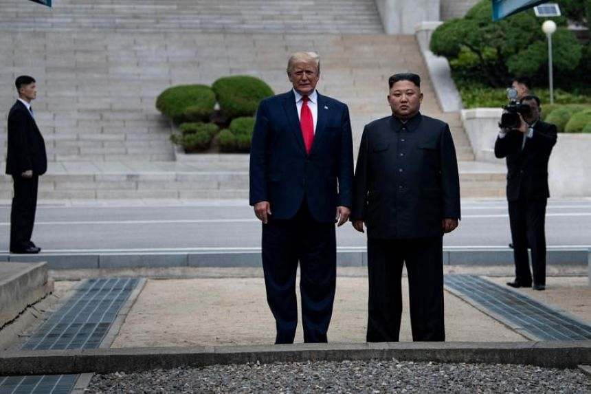 Image result for trump kim dmz