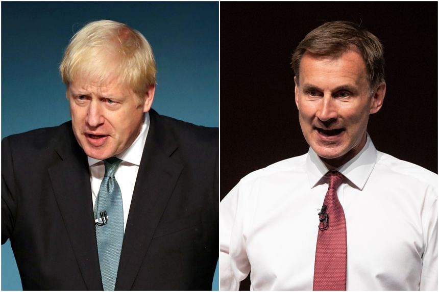 Ballot papers have been sent to about 160,000 Conservative Party members, asking them to choose between Boris Johnson (left) and Jeremy Hunt.