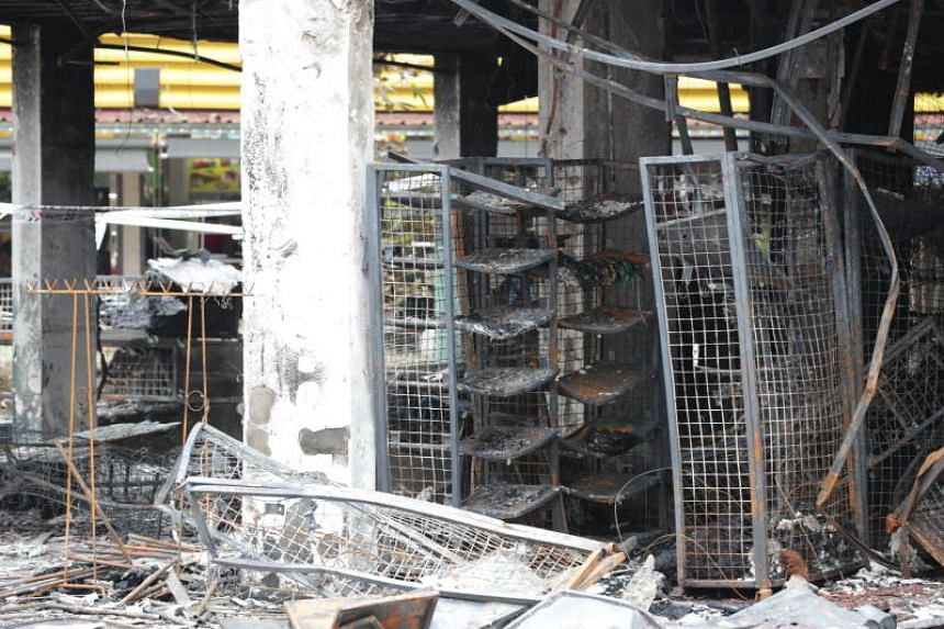 The remains of a shop on the first level of block 720.