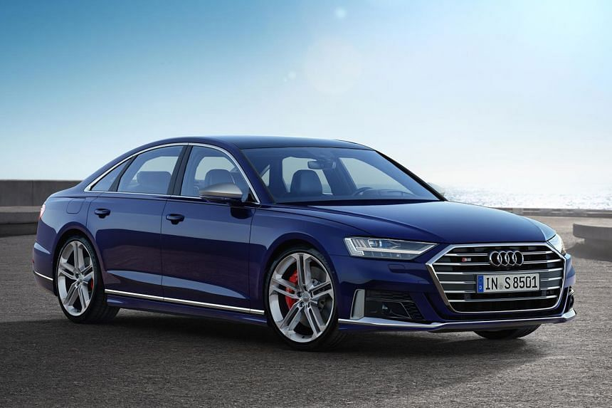 Audi S8 with 571hp V8 engine.