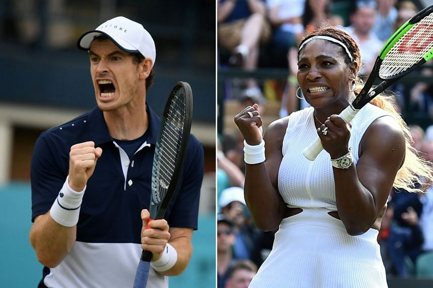 Murray and Williams (both above) had been due to play Andreas Mies and Alexa Guarachi on Centre Court,