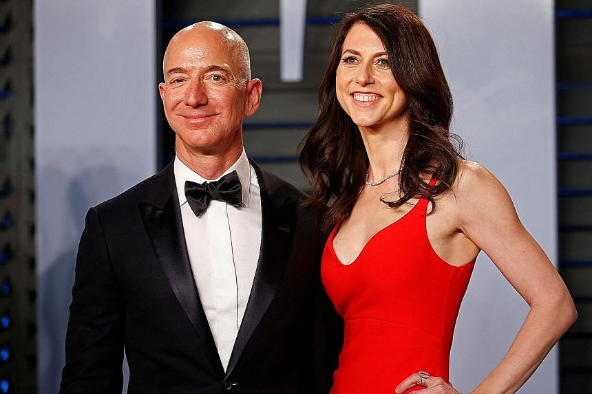 Amazon CEO Jeff Bezos and wife MacKenzie announced they were divorcing in January. It came after the National Enquirer revealed that he had been having an affair with a former news anchor.