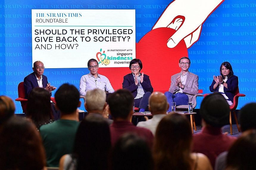 (From left) Panel moderator and Straits Times editor-at-large Han Fook Kwang, Lien Foundation chairman Laurence Lien, Singapore Management University sociology professor Paulin Straughan, Healthserve co-founder and chairman Goh Wei Leong, and Beyond