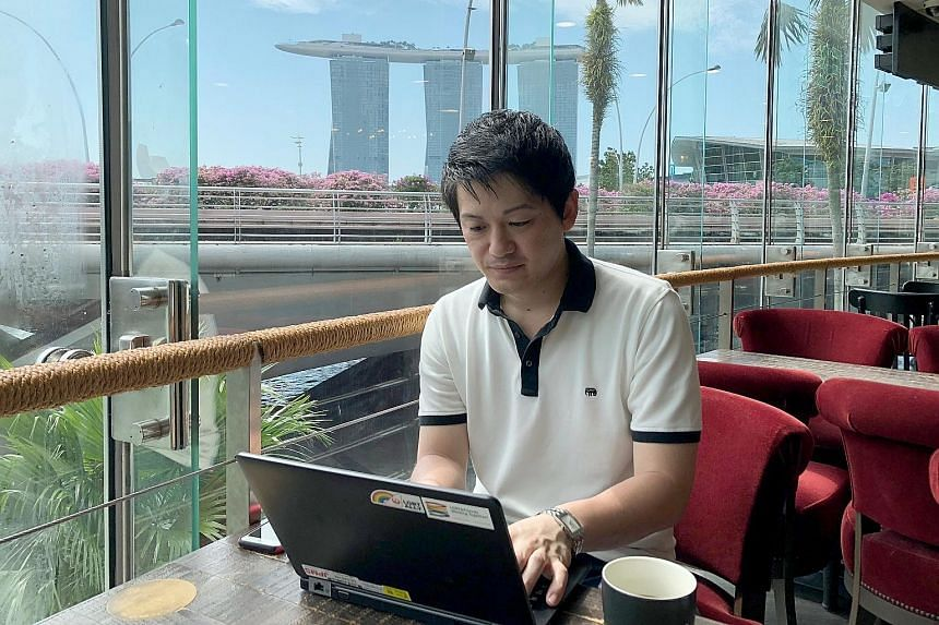 """Japan Airlines employee Yoshimasa Higashihara took advantage of the firm's """"workation"""" policy when he visited Singapore for six days last year, a stretch that included a working day."""