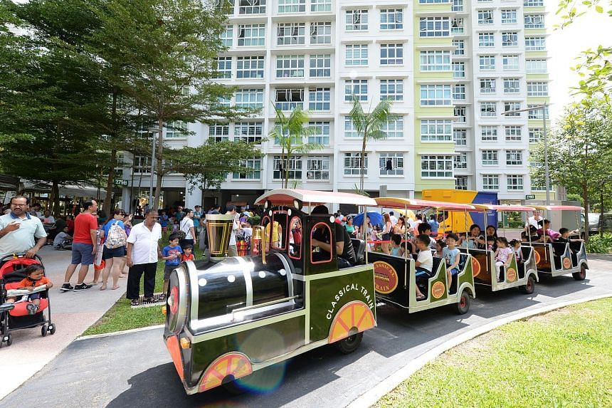 Residents enjoying the rides and other attractions at the Buangkok Fun Carnival, on July 7, 2019.