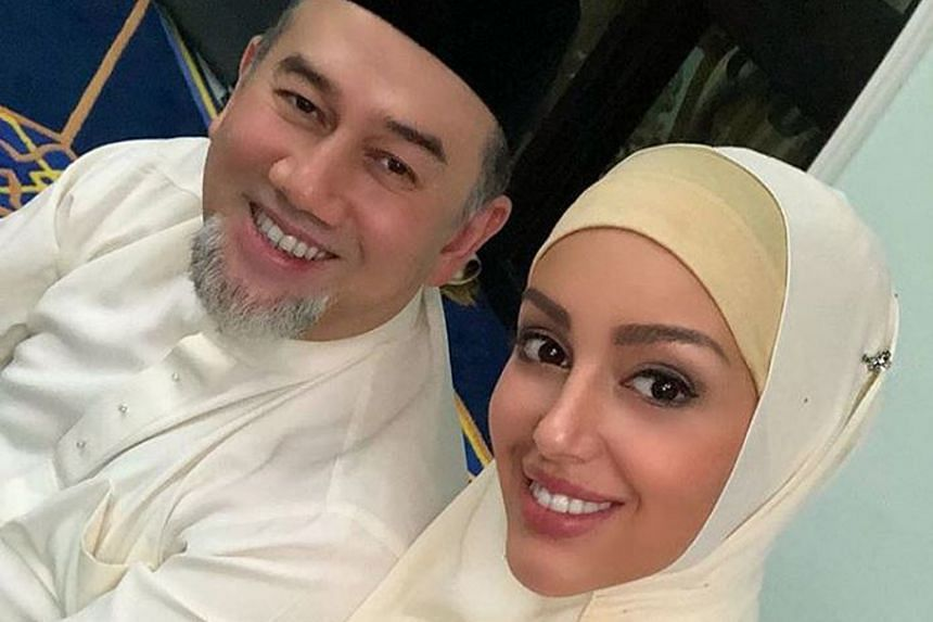 """The couple at the """"birthday of our family"""", seemingly referring to their Muslim wedding ceremony."""