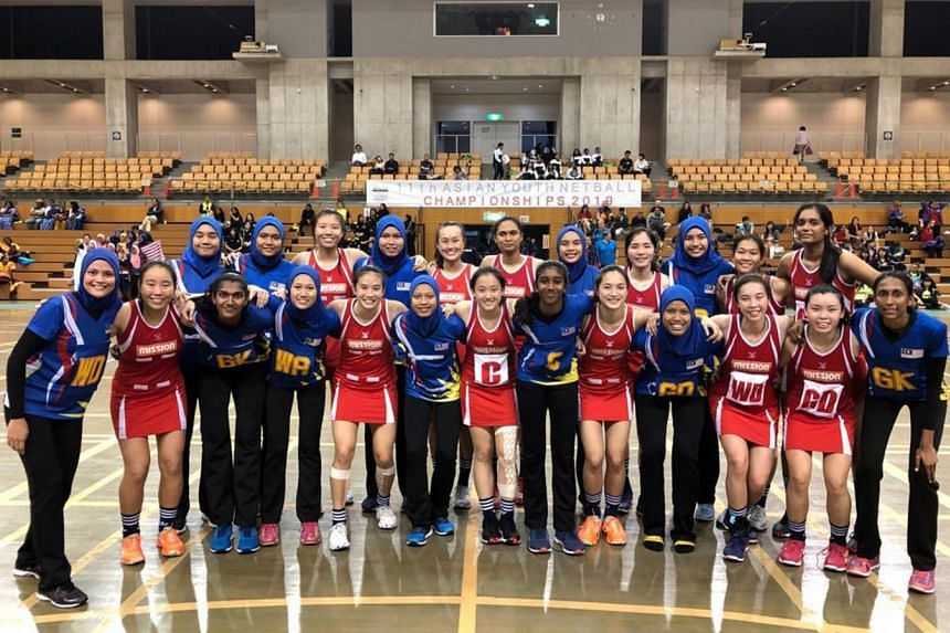 Singapore's U-21 netball team held the lead after the first quarter of the match, but they eventually lost to Malaysia 57-48, on July 7, 2019.