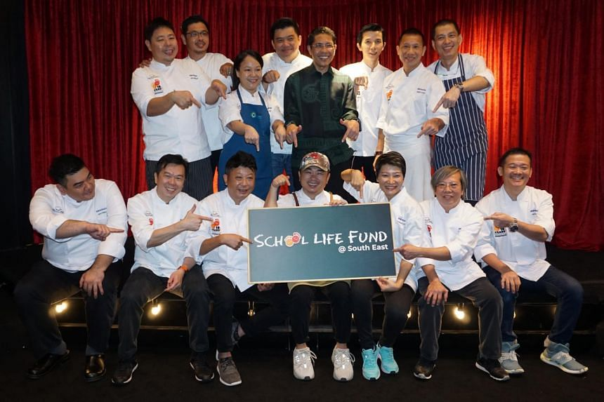South East District Mayor Maliki Osman joined fourteen local chefs in an event on July 7, 2019, to raise money for the School Life Fund @ South East.