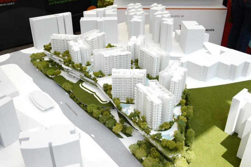 A model of the new development - a $777.78 million joint venture between CapitaLand and City Developments - was set up at the Buangkok Fun Carnival on July 7, 2019.