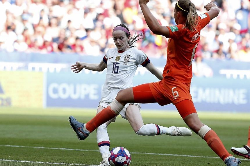 Rose Lavelle sealing victory when she scored the US' second. It was her fourth goal of the competition.