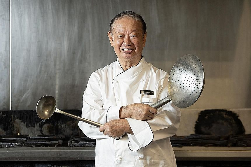 The boss Mr Wong Shang Hoon, 78, served the longest and was closest to was founding prime minister Lee Kuan Yew, whose mother taught him to make Peranakan dishes. ST PHOTO: JAMIE KOH