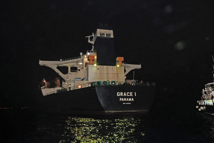 Iran demanded that Britain immediately release the oil tanker it had detained in Gibraltar, and said that it was a threatening and incorrect act.