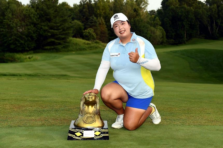 Feng Shanshan, whose previous win came in November 2017, hit a seven iron to three feet on the last hole to set up a crucial birdie putt.