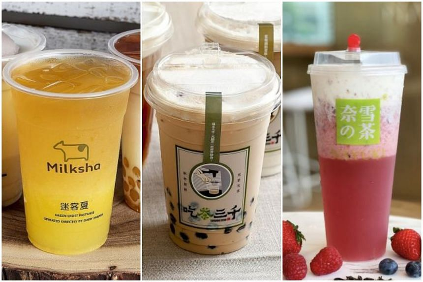 Get your bubble tea fix from these three famous Taiwanese brands - Milksha, Chicha San Chen and Xing Fu Tang.