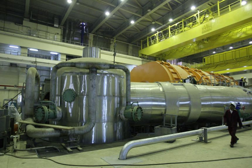 The inside of a reactor at the Bushehr nuclear power plant in southern Iran in 2010.