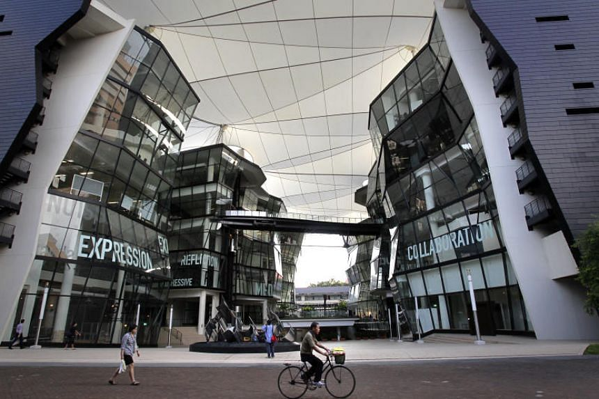 A view of Lasalle College of the Arts. Lasalle and Nanyang Academy of Fine Arts offer diploma and degree courses, though they are not full-fledged arts universities.