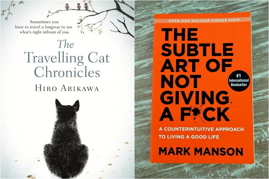 Top fiction bestseller The Travelling Cat Chronicles by Hiro Arikawa (left) and top non-fiction bestseller The Subtle Art Of Not Giving A F*ck by Mark Manson.