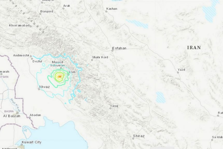 The quake occurred at a depth of 10 kilometres near the city of Masjed Soleyman in Khuzestan Province.