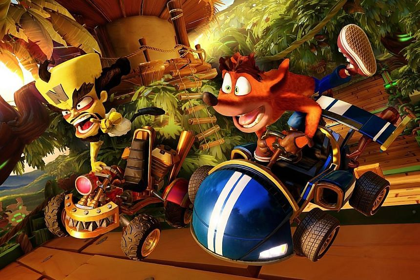 The updated courses of Crash Team Racing Nitro-Fueled - set in futuristic worlds, pirate-filled seas, underground sewers and rock-filled canyons - are visually stunning and packed with detail.