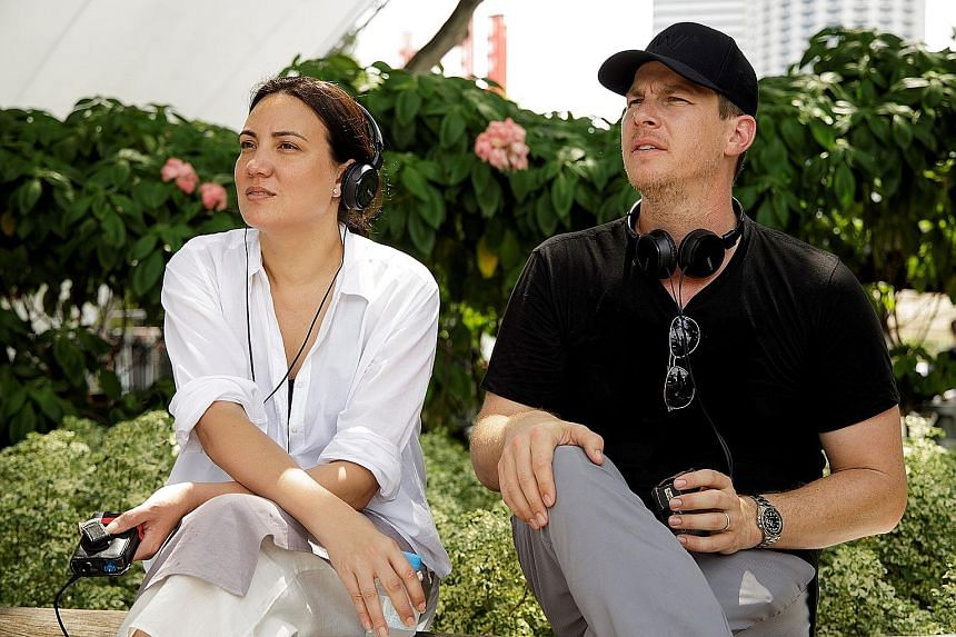 Westworld's co-creator Lisa Joy (above, with her husband Jonathan Nolan) on the Singapore set of the show.