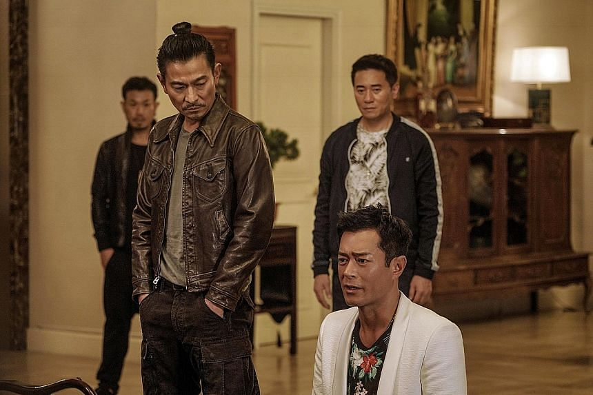 Andy Lau (above left) and Louis Koo play two best friends and sworn triad brothers who have a falling out in The White Storm 2: Drug Lords.