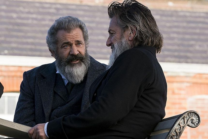 The Professor And The Madman stars Mel Gibson (above left) and Sean Penn.