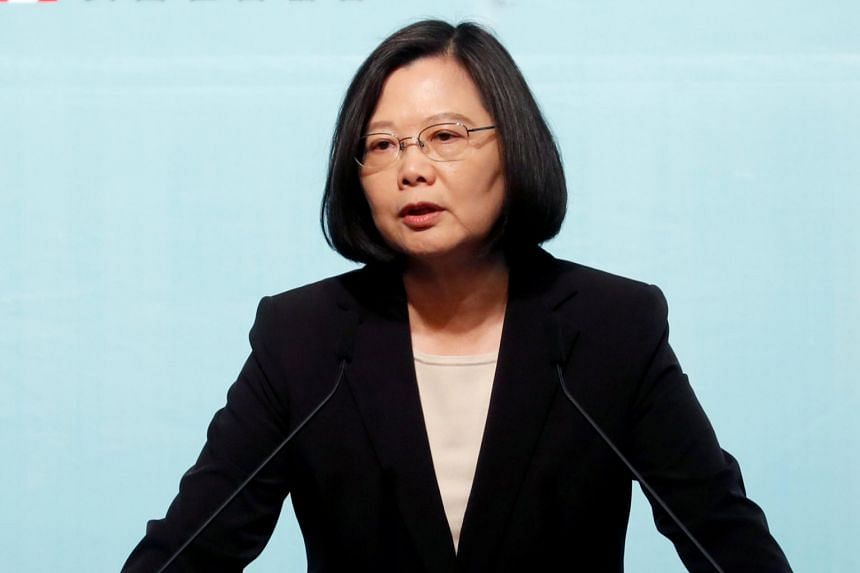 Taiwan President Tsai Ing-wen said she would share the values of freedom and transparency with Taiwan's allies, and she was looking forward to finding more international space for Taiwan.