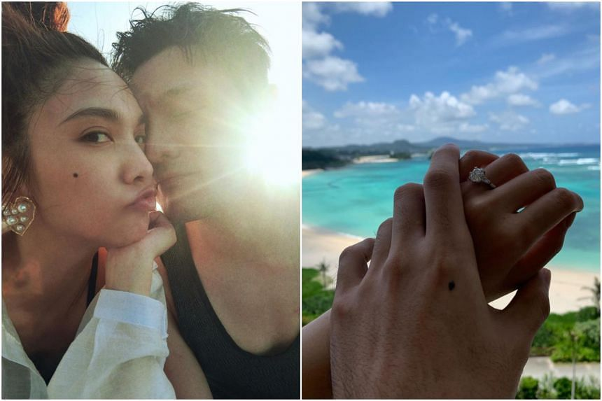 On July 11, Chinese singer Li Ronghao posted on social media pictures of him and Taiwanese singer-actor Rainie Yang to celebrate his birthday and anniversary of his wedding proposal to Yang.