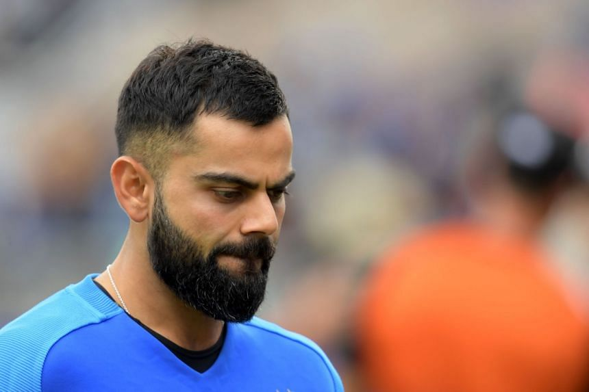 India's captain Virat Kohli reacts at the end of play.