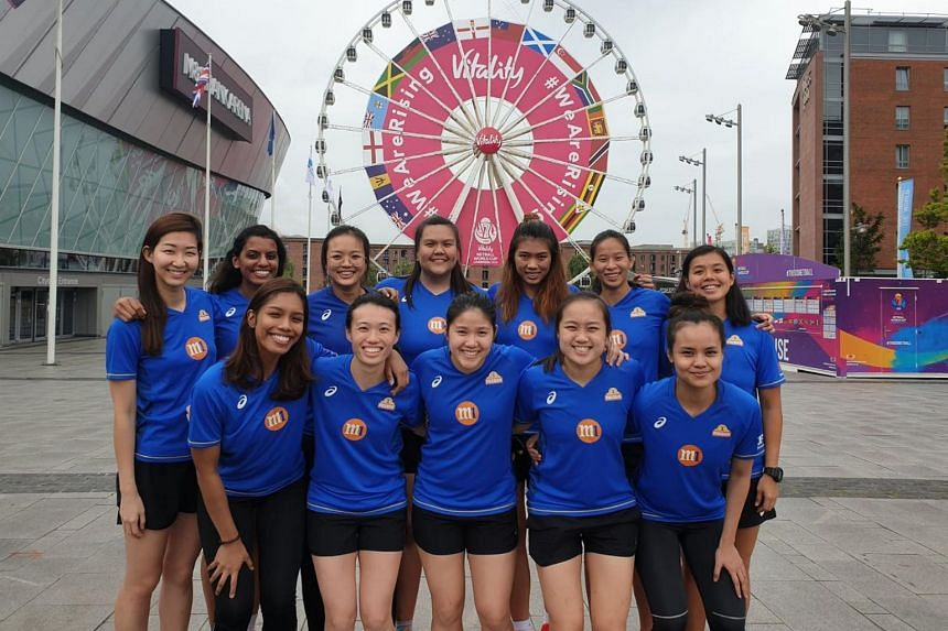 The Singapore netball team in Liverpool for the Netball World Cup 2019.