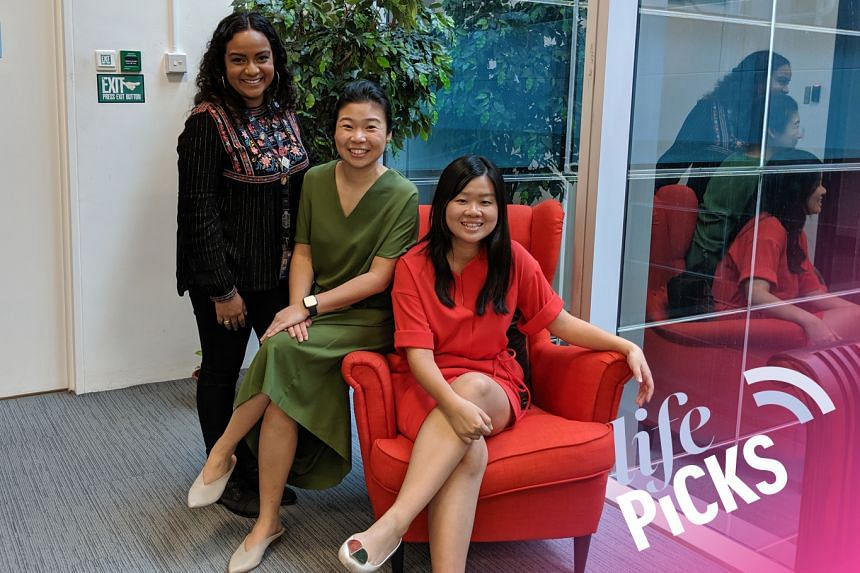 Life Picks host Melissa Sim (centre) chats with colleagues Anjali Raguraman (left) and Eunice Quek about the best things to do in Singapore from July 11-25.