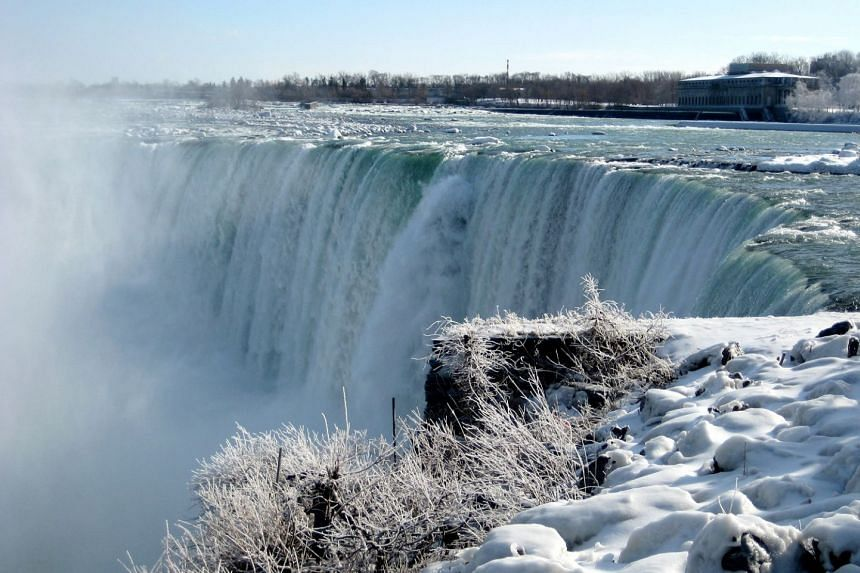 A view of the Niagara Falls in the United States.