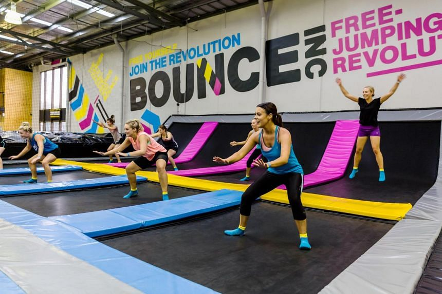 Those who prefer lower-impact activities will appreciate the BounceFit session at Bounce Singapore.