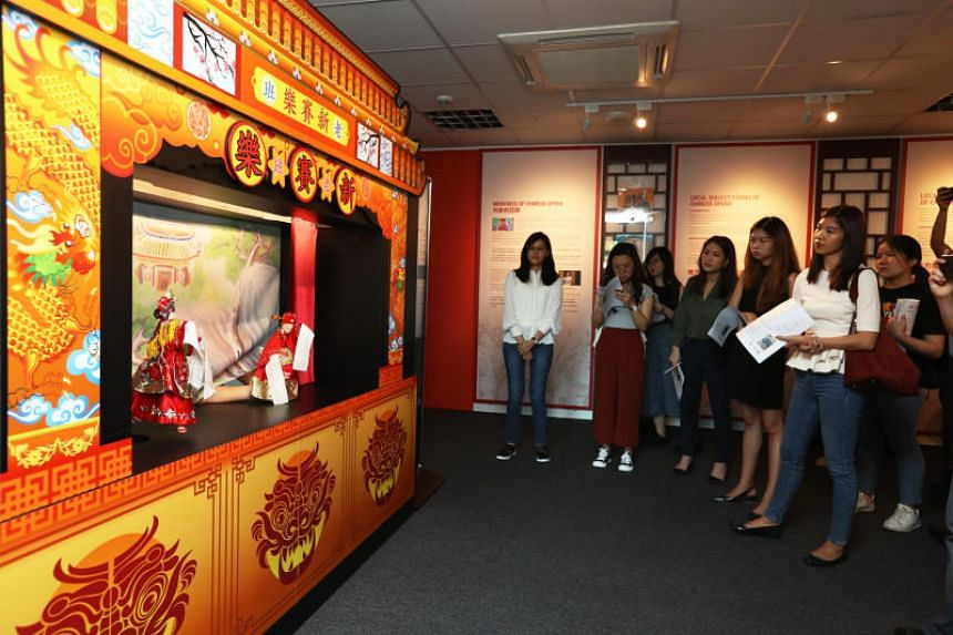 The Kreta Ayer Heritage Gallery, opening to the public this Sunday, will feature six broad sections: Chinese opera, nanyin, Chinese puppetry, Chinese painting and calligraphy, and tea drinking and appreciation.