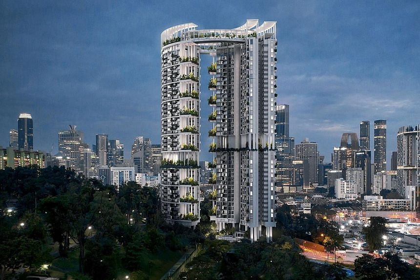 Real estate developer CapitaLand's 99-year leasehold condo One Pearl Bank will be open for booking on July 20, with prices starting at $970,000 for studio units. The 39-storey condominium, with curved towers linked by sky bridges, occupies a land are
