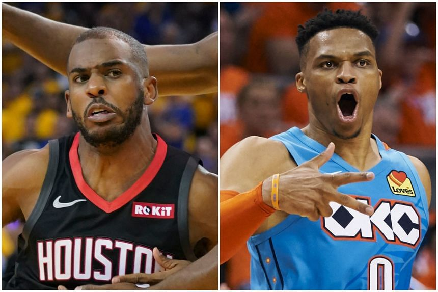 The Houston Rockets have traded Chris Paul (left) and draft picks for Oklahoma City Thunder lead guard Russell Westbrook.