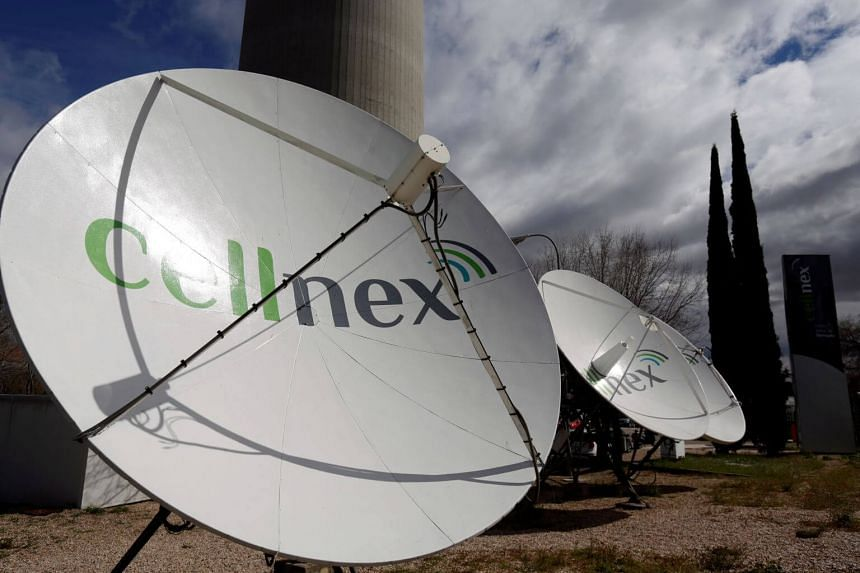 Telecom antennas of Spain's telecoms infrastructures firm Cellnex in Madrid, Spain, on March 10, 2016.