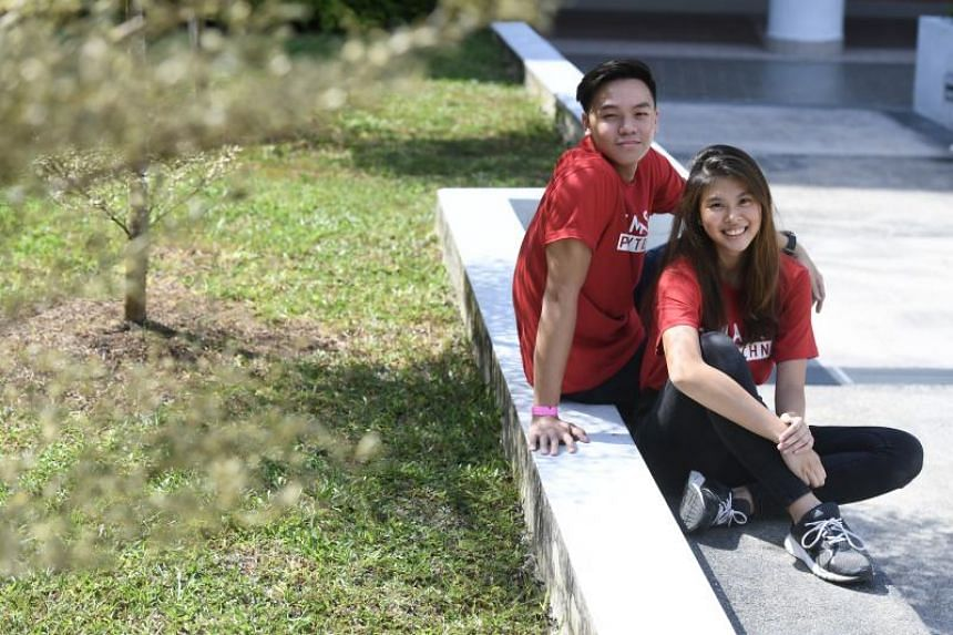 Temasek Polytechnic students Cecilia Soh and Kenneth Lim will be taking up the through-train work-study degree programme.