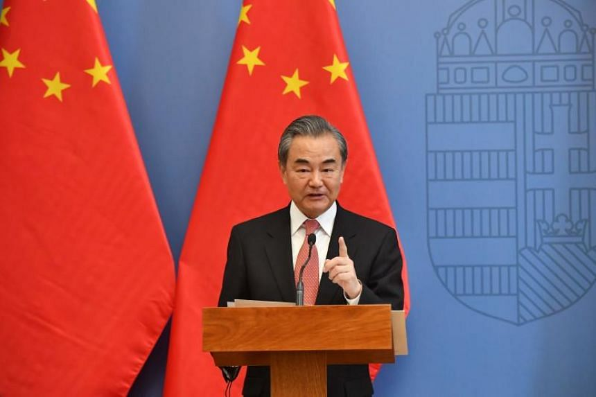 During a visit to Hungary, Mr Wang Yi said that no foreign force could stop the reunification of China and no foreign force should try to intervene.