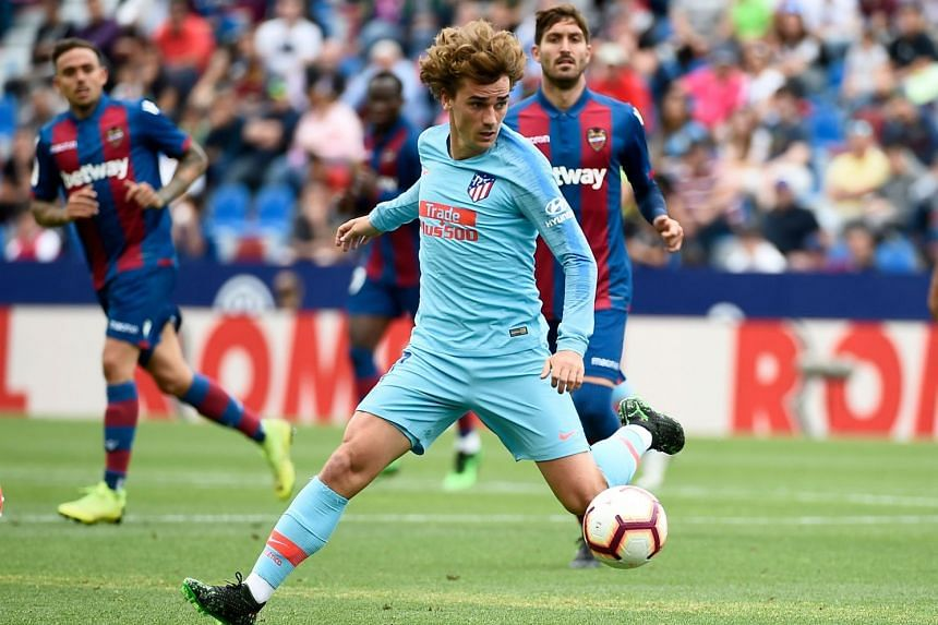 Griezmann in action for Atletico Madrid.