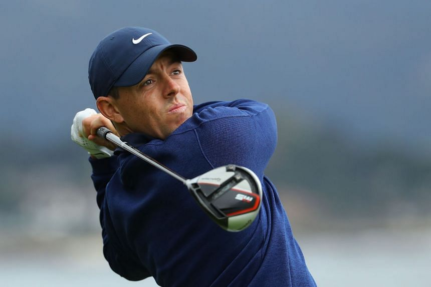 McIlroy (above) recorded six birdies for a round of four under par.