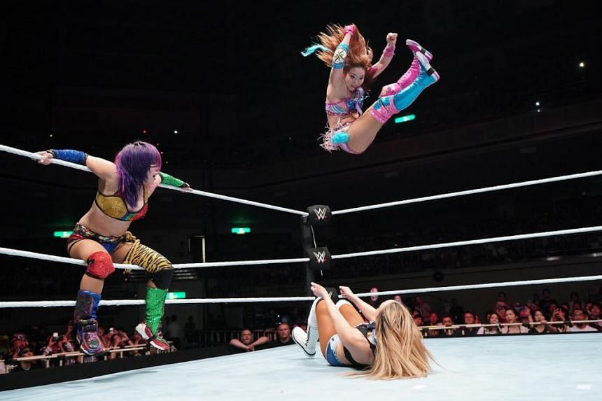 The Kabuki Warriors in action in Tokyo, Japan on June 28, 2019.