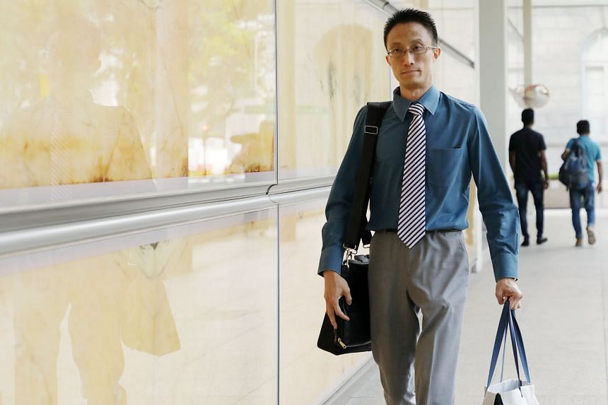 Ler Teck Siang (above) is on trial for abetting Sim Eng Chee in consuming drugs and for possessing drug-related items.