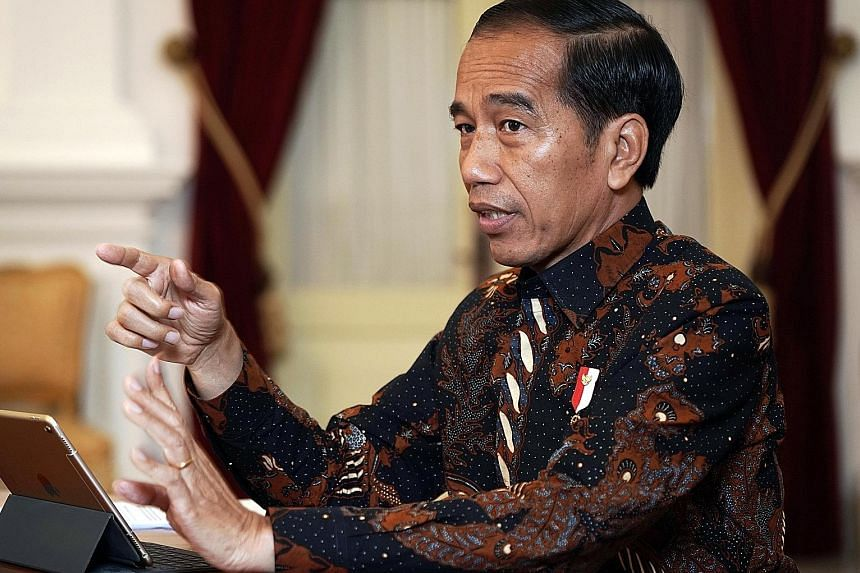 Indonesia President Joko Widodo during an interview in his Jakarta office yesterday. He has pledged to quickly lower corporate taxes, ease stringent labour laws and lift curbs on foreign ownership in more industries.
