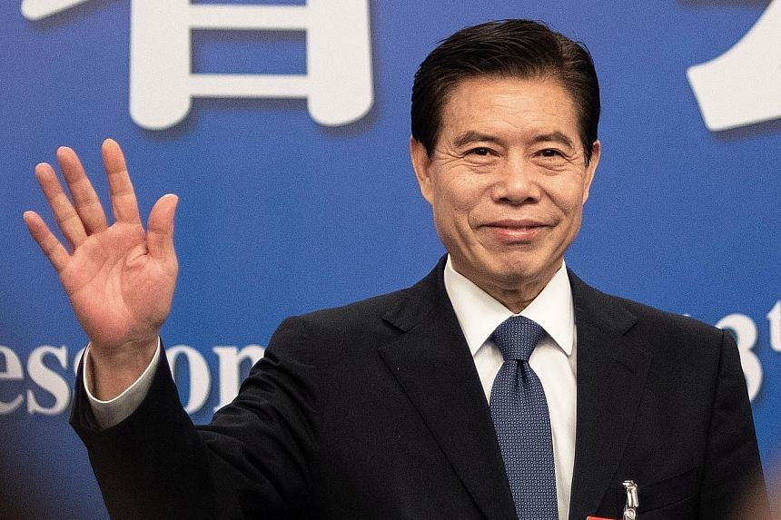 China's Commerce Minister Zhong Shan has been described as a hands-on and very knowledgeable trade official. PHOTO: AGENCE FRANCE-PRESSE